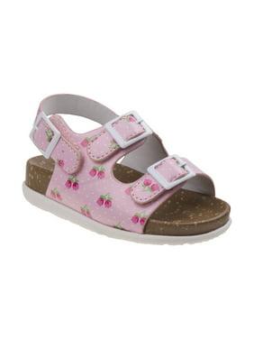 Laura Ashley O-LA81766NPINK8 Flower Cork Lining Sandals for Toddler Girls, Pink - Size 8