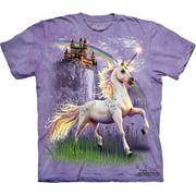 Magical Unicorn Princess Castle Big Boys T-Shirt Tee