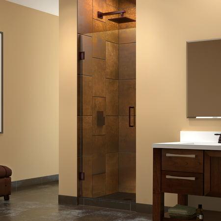DreamLine Unidoor 27-inch Frameless Hinged Shower Door - Walmart.com