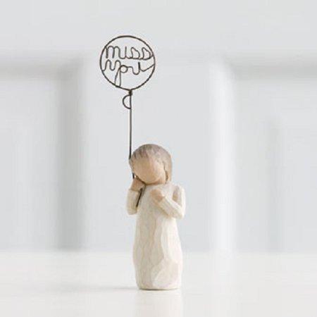 Willow Tree Miss You Child Figurine Susan Lordi 26183 In my Thoughts Heart (Astral Willow)