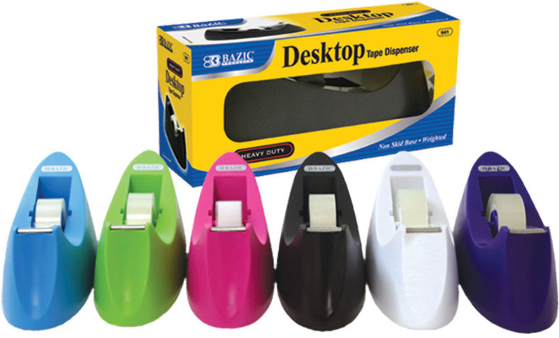 """BAZIC 1"""" Core Heavy Duty Desktop Tape Dispenser by DDI"""