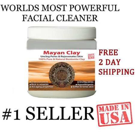 Mayan Secret - Indian Healing Clay - Deep Pore Cleansing Facial & Healing Body Mask | The Original 100% Natural Calcium Bentonite Clay (1 (Deep Cleansing Clay Mask Masks)
