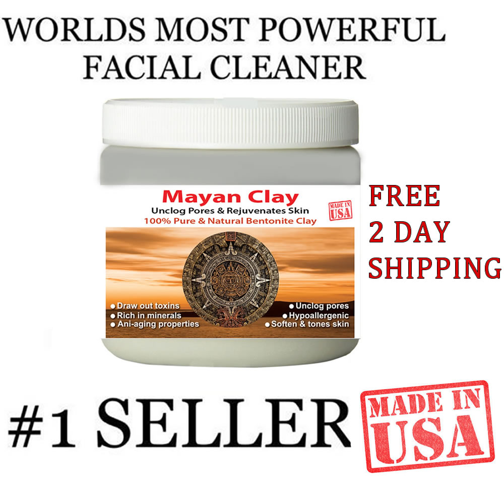 Mayan Secret - Indian Healing Clay - Deep Pore Cleansing Facial & Healing Body Mask | The Original 100% Natural Calcium Bentonite Clay (1 pound)
