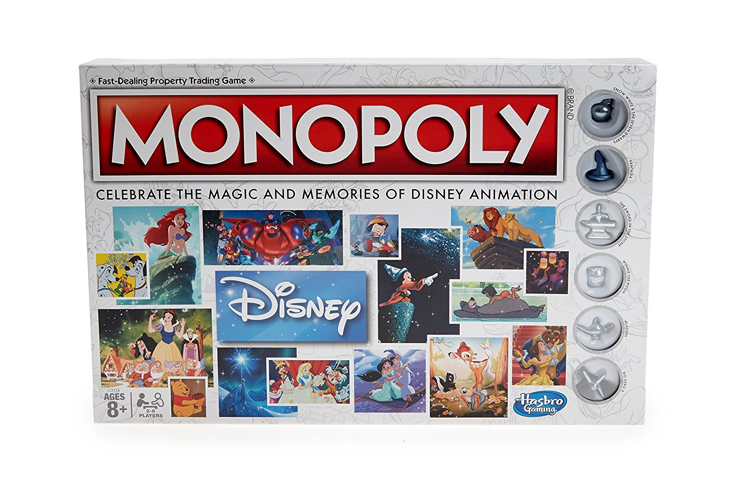 Monopoly: Disney Animation Edition, Celebrate the Magic and memories of 80 years of Disney... by