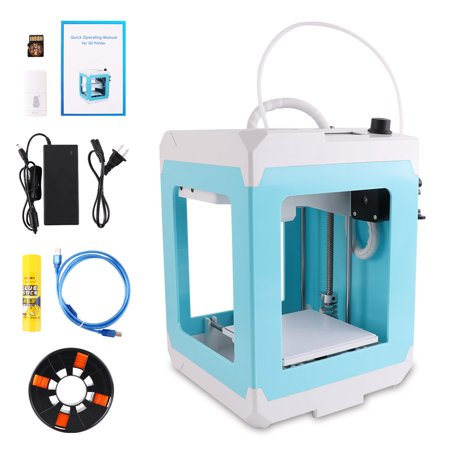 HopeWant 3D Printer Mini DIY Desktop Kit with PLA Filament TF Card High  Accuracy Single Extruder and High Accuracy for Beginner No Assembly  Required