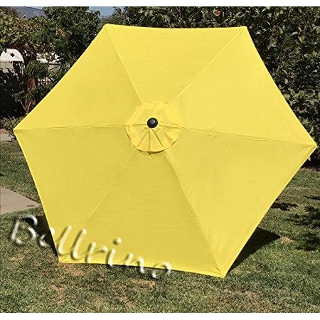 bellrino decor 10 ft 8 ribs replacement yellow strong thick umbrella canopy 10 ft