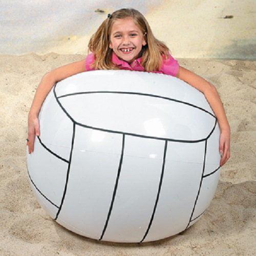 "Giant Inflatable Volleyball 32"" Jumbo Beach Outdoor Fun"