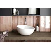 "Cloe 2.5"" x 8"" Glossy Wall Tile in Pink (10.64 SqFt/Ctn)"