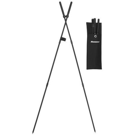 1 Shooting Stick (Hammers Safari Collapsible Shock Corded Shooting Stick Stix Bipod Gun Pod)