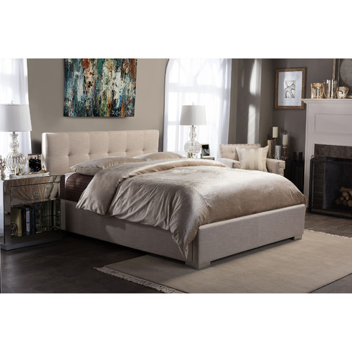 Baxton Studio Regata Upholstered Platform Bed