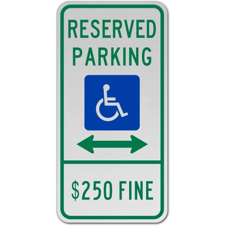 18 Nfl Parking Sign (Traffic Signs - Illinois Accessible Parking Sign 12 x 18 Aluminum Sign Street Weather Approved Sign 0.04 Thickness )