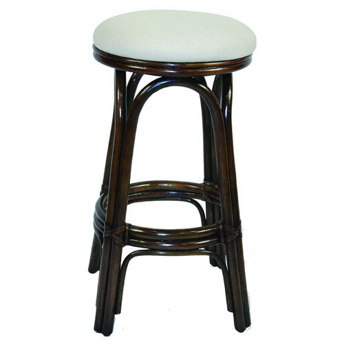 Hospitality Rattan Carmen 29'' Swivel Bar Stool with Cushion