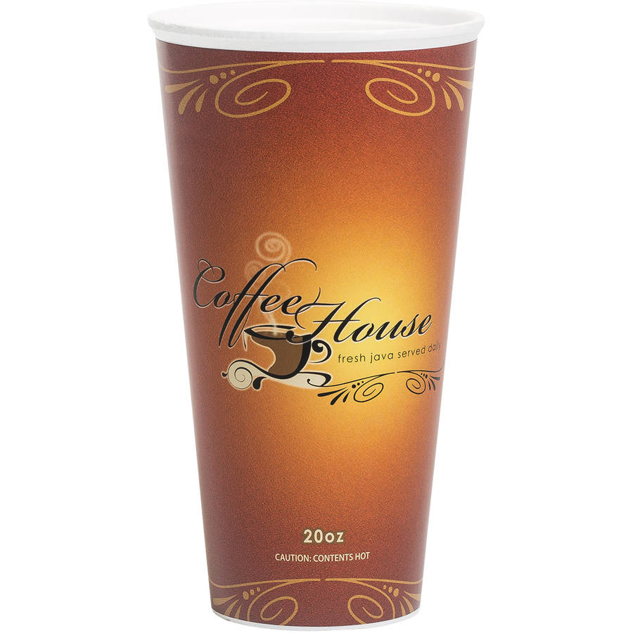 WinCup Marquee Coffee House Maroon 20 oz. Paper Wrapped Foam Cups, 500 count