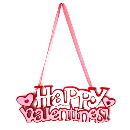 Non-woven Wall Hanging Decoration Handmade Signs Door Ornaments Plaque Hanger for Valentine Holiday Gift