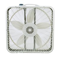 "Lasko 20"" Premium Box 3-Speed Fan with Innovative Wind Ring System, Model 3723, Gray"