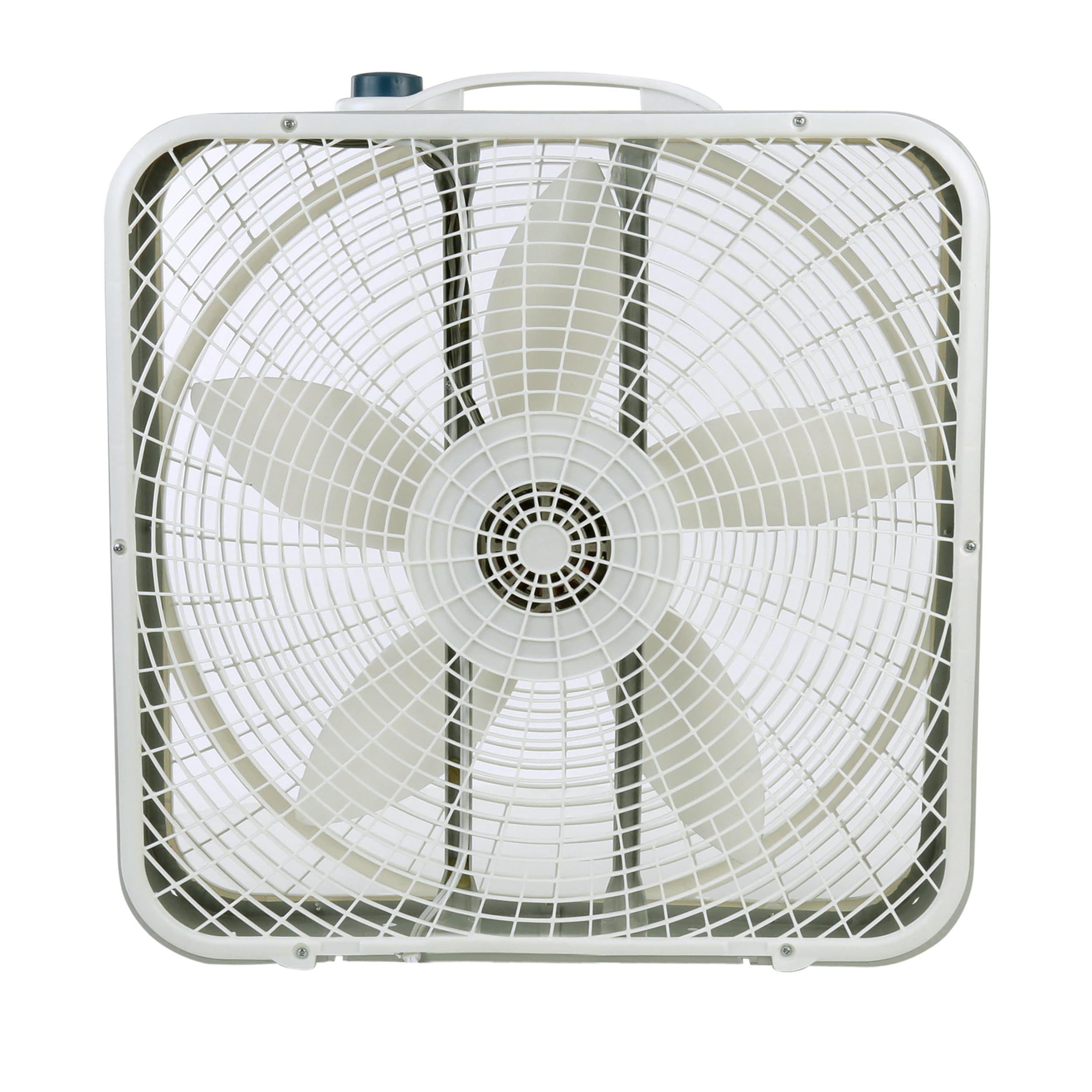 """Lasko 20"""" Premium Box 3-Speed Fan, Model #3723, Gray"""