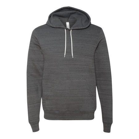 Bella Canvas 3719 Unisex Fleece Pullover Hoodie - Dark Grey Marble - XX-Large
