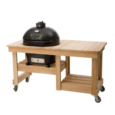 Primo Cypress Counter Top Table, Oval XL 400 Primo Cypress Wood Table