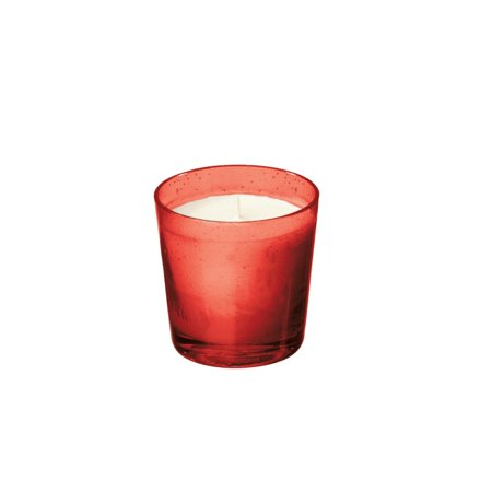 Set of 6 SoyVeda Jewel Ruby Red Scented Glass Votive Candles 2.6 oz.