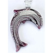 KA-1992 18-21 in. Dolphin Amethyst Necklace