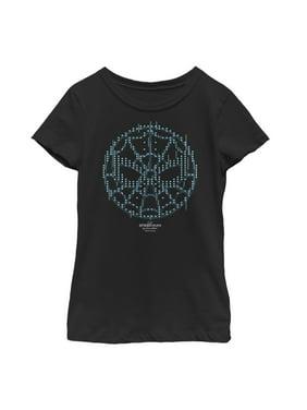 Marvel Girls' Spider-Man: Far From Home Pixel Mask T-Shirt