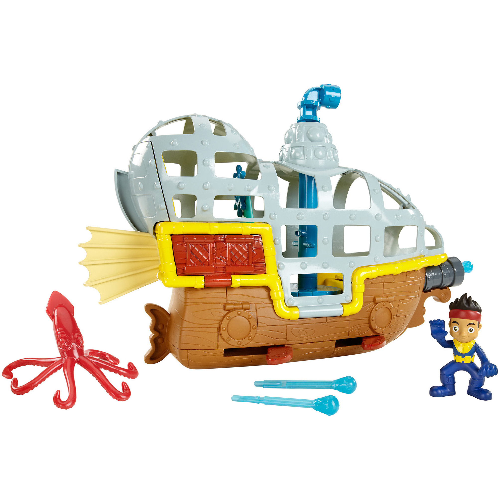 Fisher-Price Disney Jake And The Neverland Pirates Rolling Submarine Bucky