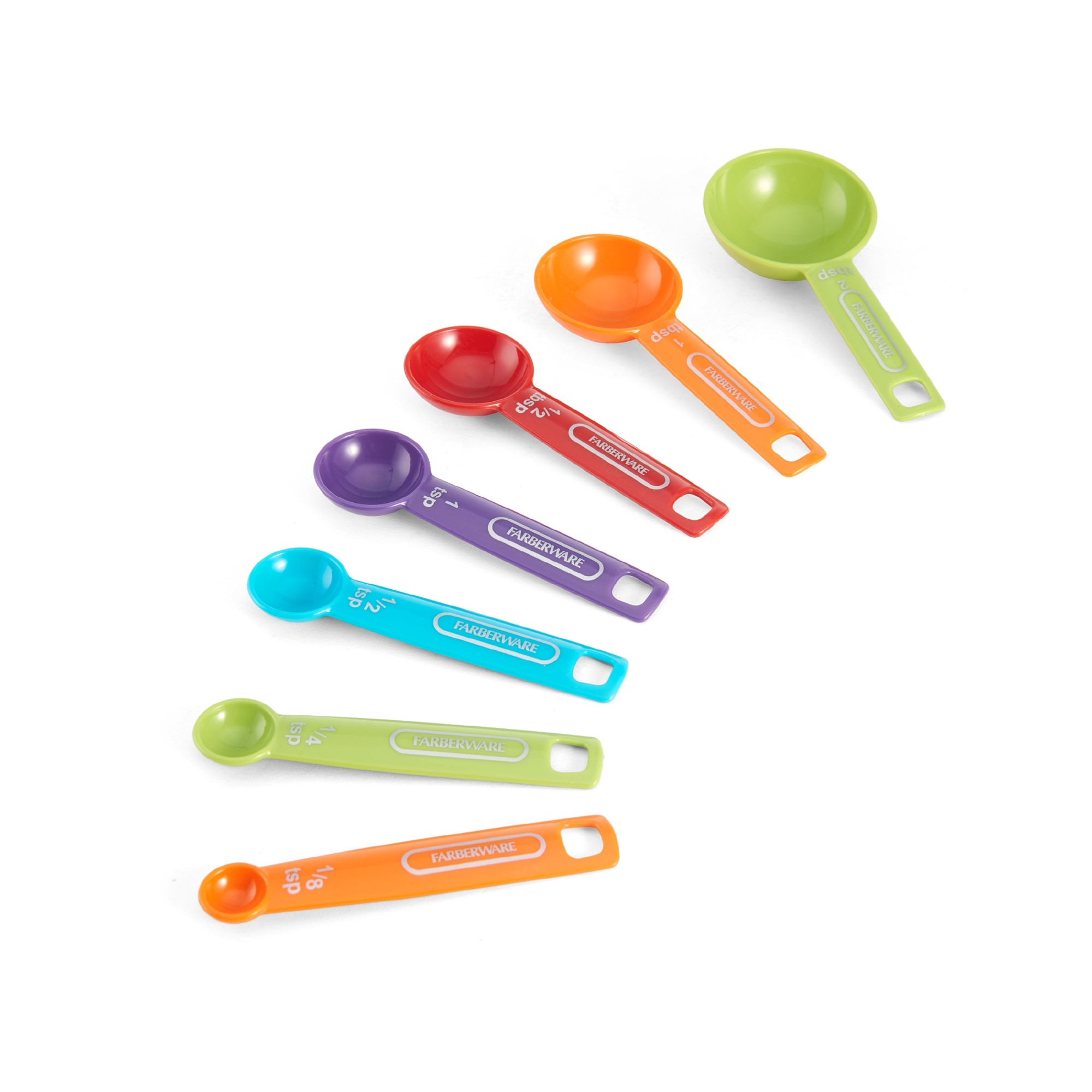 Farberware 7 Piece Measuring Spoon Set, Multi-Colored