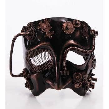 STEAMPUNK MASK - MALE - BRONZE - Steampunk Outfits Male