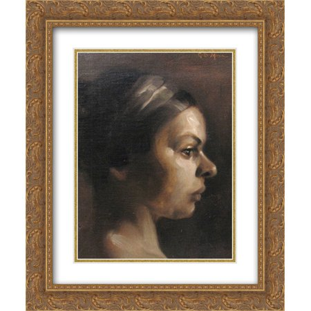 George Demetrescu Mirea 2x Matted 20x24 Gold Ornate Framed Art Print 'Woman