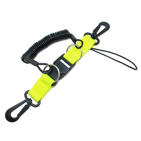 Scuba Choice Diving Dive Snappy Coil Camera Lanyard and Quick Release Buckle, Yellow,