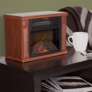 Northwest  Portable Mini Electric Fireplace Heater Walmartcom - Fireplace heaters electric