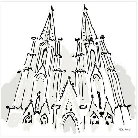 Notre Dame, Paris by Eazl Premium Gallery Wrap