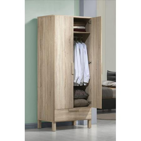 Acme Furniture Odella Wardrobe, Light Oak