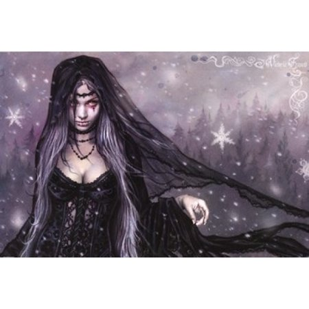 Winter Goth Poster Print by Victoria Frances (36 x 24)