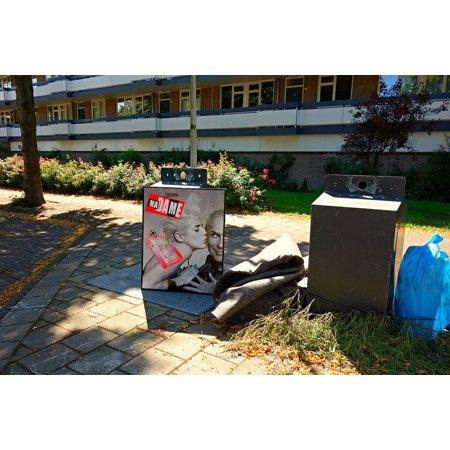 Bin Trash Sacks Rubbish Trash Waste Poster Chute Poster Print 24 x 36 ()