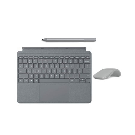 New Microsoft Surface Go Accessories Bundle, Include Official Type Cover, Surface Mouse and Pen (Grey)