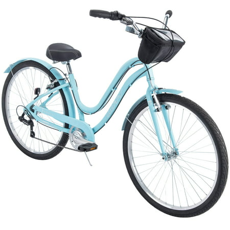 "Huffy 27.5"" Parkside Women's 7-Speed Comfort Bike with Aluminum Frame Aluminum Mountain Bike Frame"