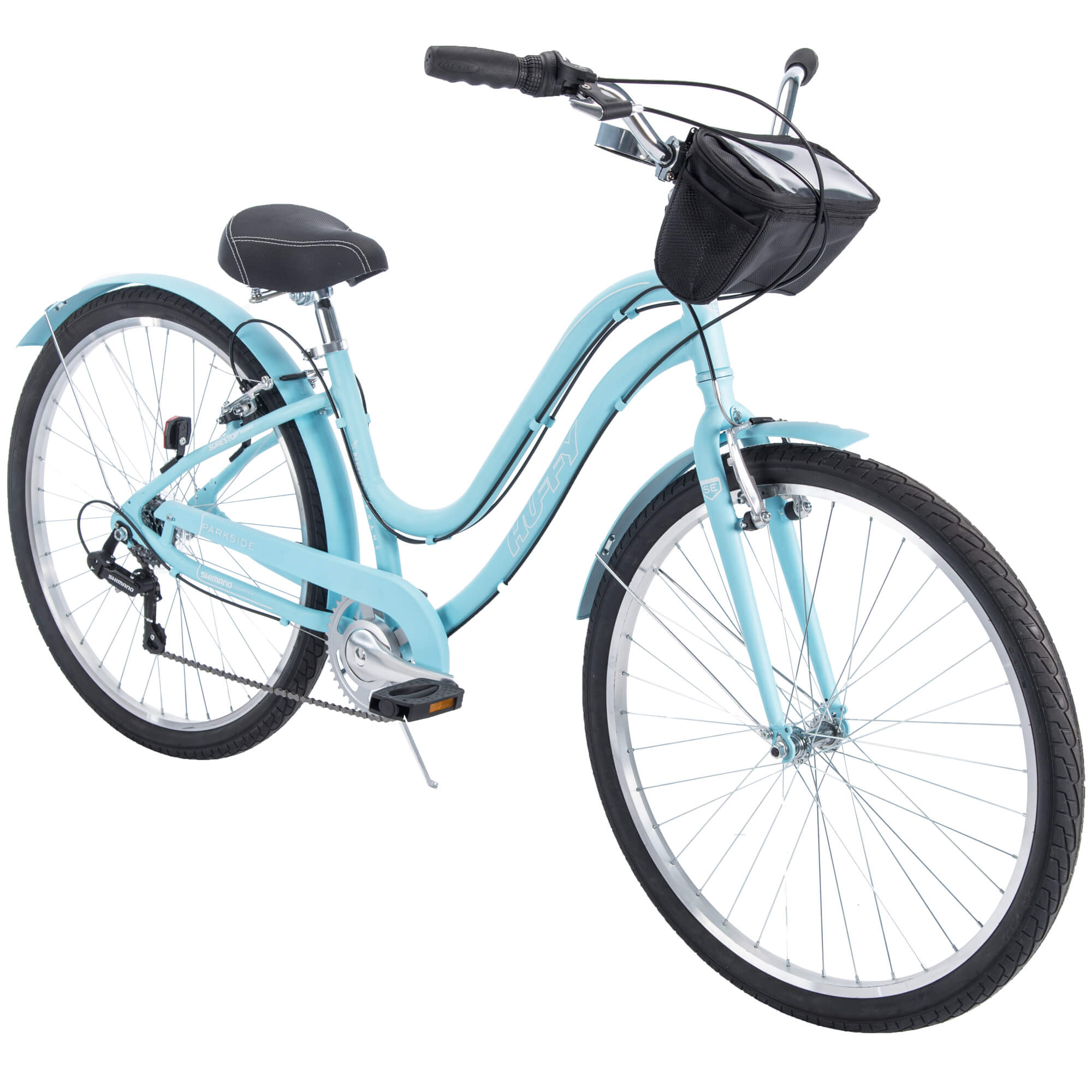 "Huffy 27.5"" Parkside Women's 7-Speed Comfort Bike with Aluminum Frame"