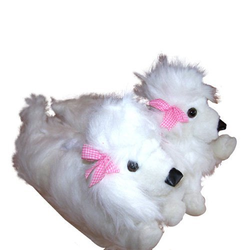 Comfy Feet Poodle Animal Feet Slippers