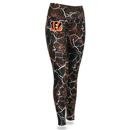 Cincinnati Bengals Zubaz Women's Marble Legging - Black/Orange