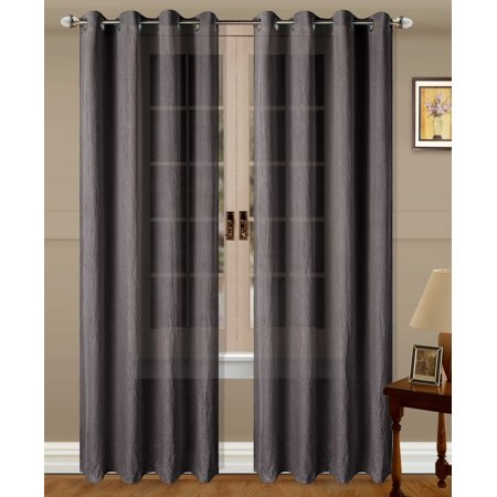 1PC Crushed MicroFiber Grommet Curtain Available Available in Multiple Colors and Sizes (57
