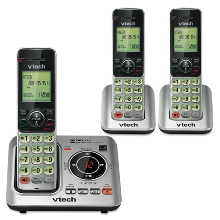 - VTech CS6629-3 Cordless Phone with Answering Machine & Caller ID/Call Waiting, 3 Handsets