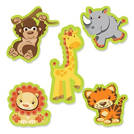 Funfari - Fun Safari Jungle - DIY Shaped Small Party Cut-Outs - 24 Count (Safari Park Halloween Party)