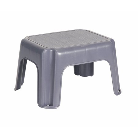 Rubbermaid Plastic Small Black Step Stool Walmart Com