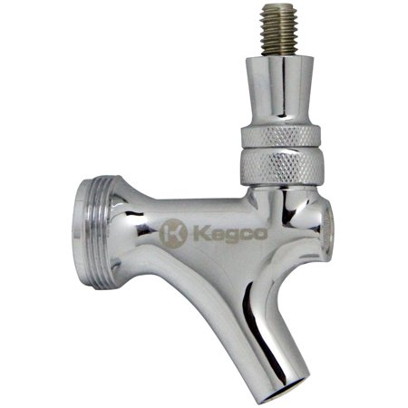 Chrome Draft Beer Faucet with Brass Lever, This Draft Beer Faucet has a High Polished Chrome Plated Forged Brass Body that will look great on your dispense.., By Krome From USA