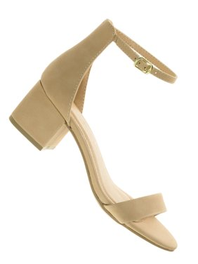 b463d700ba917 Product Image Weekend by City Classified, 2 Piece Low Chunky Block Heel  Open Toe Dress Sandal w