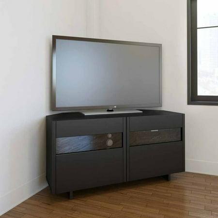 Nexera Vision Black 48″ Corner TV Stand For TVs up to 53″