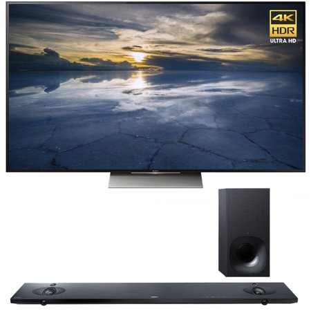 Sony XBR-55X930D 55-Inch 4K UHD TV with Sony HTNT5 Sound Bar with Hi-Res Audio and Wireless Streaming by