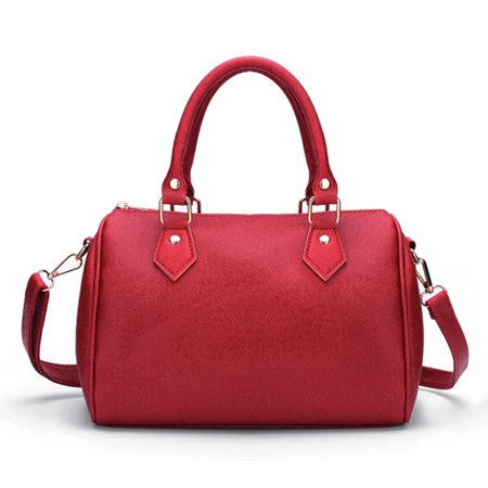 Meigar PU Leather Handbag Shoulder Messenger Tote Bag Large Candy Color For Women Girl (Candy Purses Bags)