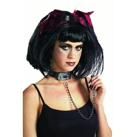 Chain Slayer Vinyl Skull Necklace Choker Goth Punk Costume Jewelry Accessory](Goth Ballerina)